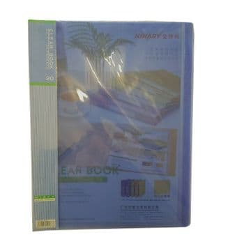 5 x A4 POLY CLEAR POCKET BOOKS - 20 pages per book stationery office school file